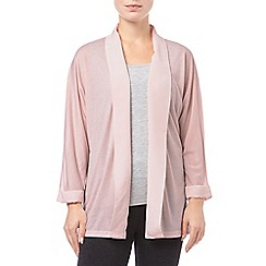 Phase Eight - Dusty Pink addie woven mix cardigan