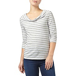 Phase Eight - Grey Marl and Ivory stella stripe top