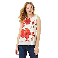 Phase Eight - Double Layer Poppy Print Top
