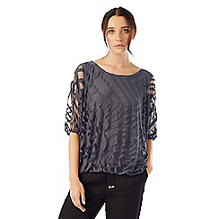 Phase Eight - Charcoal eve geo burnout top