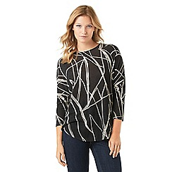 Phase Eight - Abstract Line Print Top