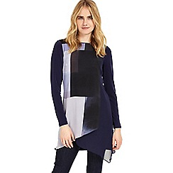 Phase Eight - Navy vinny colour block tunic top