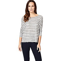 Phase Eight - Grey and ivory wanda wave stripe top