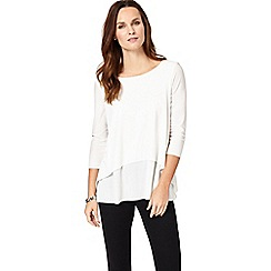 Phase Eight - Ivory leela 3/4 sleeve top