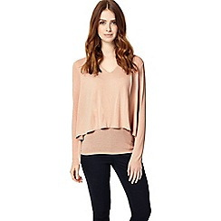 Phase Eight - Dusty pink dee double layer top
