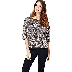 Phase Eight - Charcoal and ivory cecily jacquard top