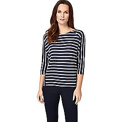 Phase Eight - Navy and silver carris stripe top