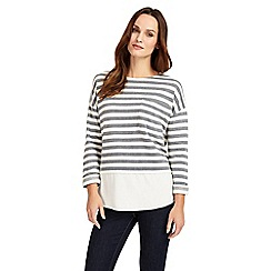 Phase Eight - Navy and ivory sian stripe top