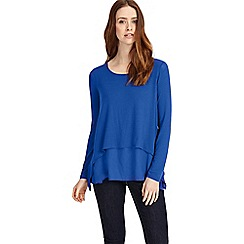 Phase Eight - French blue ciera double layer top