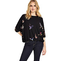 Phase Eight - Multi-coloured cecily bird print top