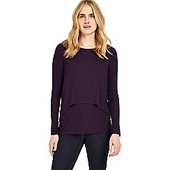Phase Eight - Blackberry dita double layer top