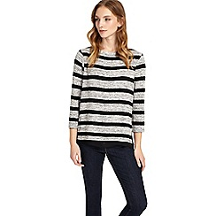Phase Eight - Black and grey rae stripe top
