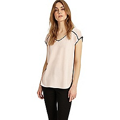 Phase Eight - Black and blush pippa piped edge top