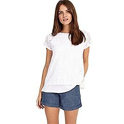 Phase Eight - White Peggy pointelle top