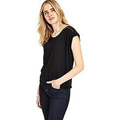 Phase Eight - Black zora zip shoulder top