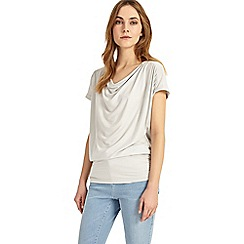 Phase Eight - Silver barb blouson top