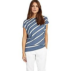 Phase Eight - Blue Amy Asymmetric Stripe Top