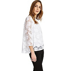 Phase Eight - White barney burnout top