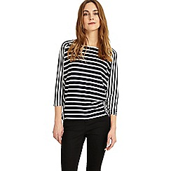 Phase Eight - Navy and white carris stripe top