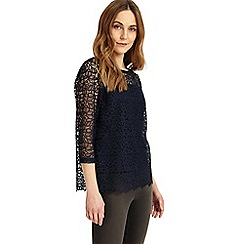 Phase Eight - Navy Odette lace top