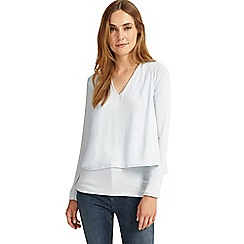 Phase Eight - Pale Blue dee double layer top