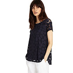 Phase Eight - Navy becky burnout top