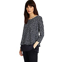 Phase Eight - Navy and Ivory ciena spot double layer top