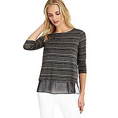 Phase Eight - Grey Marl secret burnout stripe top