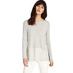 Phase Eight - Silver ciera double layer top