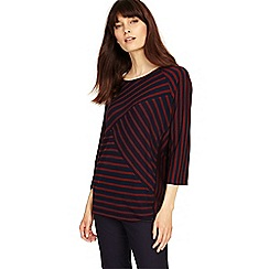 Phase Eight - Brick and Navy carrah stripe top