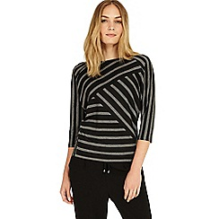 Phase Eight - Black and Grey carrah stripe top