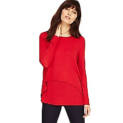 Phase Eight - Sangria dita double layer top