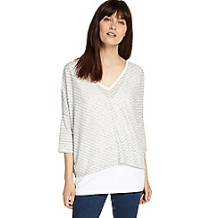 Phase Eight - Silver and Ivory sharon stripe top