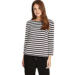 Phase Eight - Charcoal and Ivory otto stripe top
