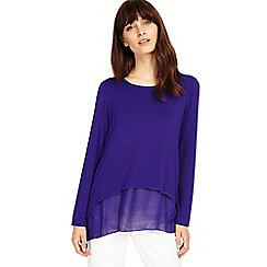 Phase Eight - Electric Purple ciera double layer top