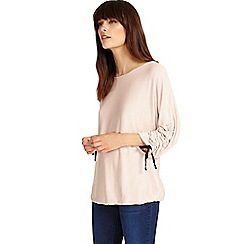 Phase Eight - Pale Pink dawn drawstring sleeves top