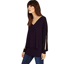 Phase Eight - Deadly Nightshade shona split sleeve top