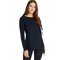 Phase Eight - Navy camille chiffon layer top