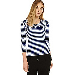 Phase Eight - Lapis and ivory Carrie stripe top