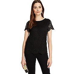 Phase Eight - Black Tessa lace top