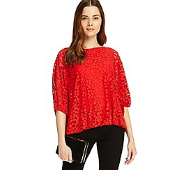 Phase Eight - Red Sandra spot burnout top