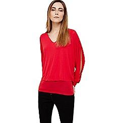 Phase Eight - Red shona split sleeve top