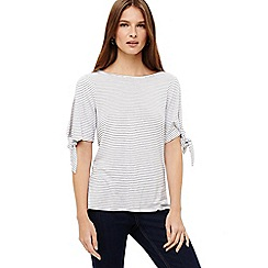 Phase Eight - Sinead tie sleeve stripe top