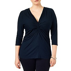 Studio 8 - Sizes 16-24 Navy lydia knot top