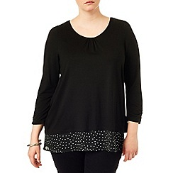 Studio 8 - Sizes 16-24 Black joanna spot top