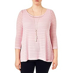 Studio 8 - Sizes 16-24 Pink maggie pointelle top