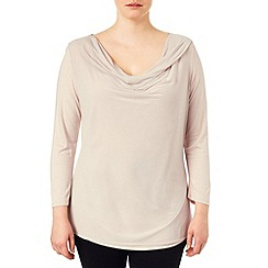 Studio 8 - Sizes 16-24 Oyster verity cowl neck top