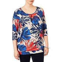 Studio 8 - Sizes 16-24 Multi-coloured lillian floral top