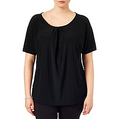 Studio 8 - Sizes 16-24 Black anita plain top