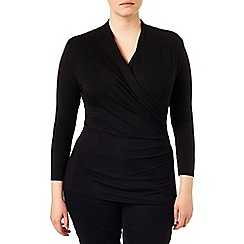 Studio 8 - Sizes 16-24 Black agatha ruched jersey top